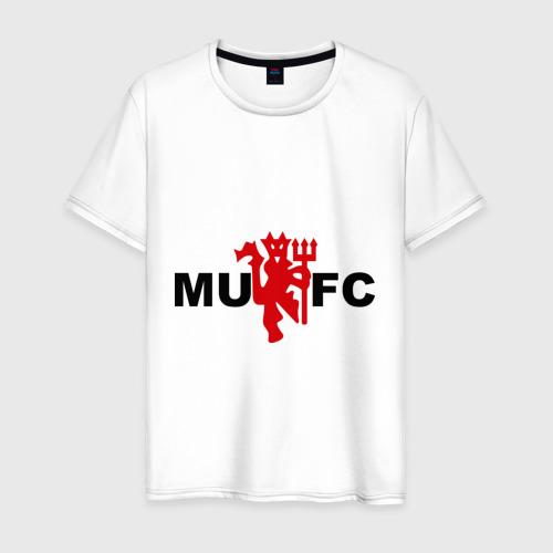 Мужская футболка хлопок Манчестер Юнайтед (manchester united)
