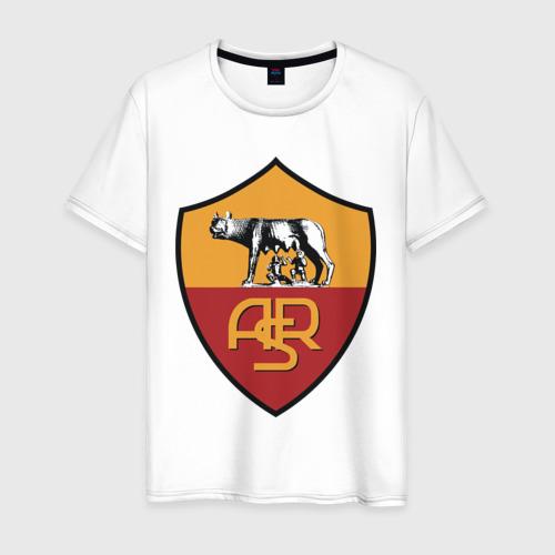 Мужская футболка хлопок Italian Serie A. AS Roma