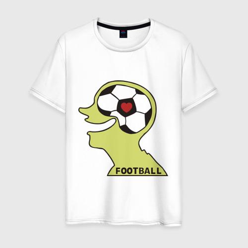 Мужская футболка хлопок Я люблю футбол (2)