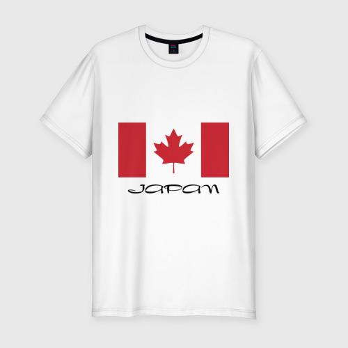 Мужская футболка хлопок Slim Канада-Япония