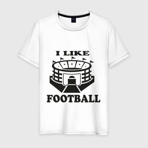 Мужская футболка хлопок I like football