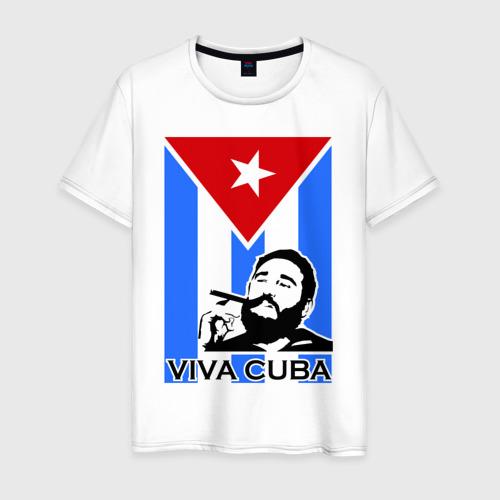 Мужская футболка хлопок Viva, Cuba!