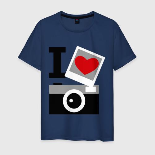 Мужская футболка хлопок Я люблю фото