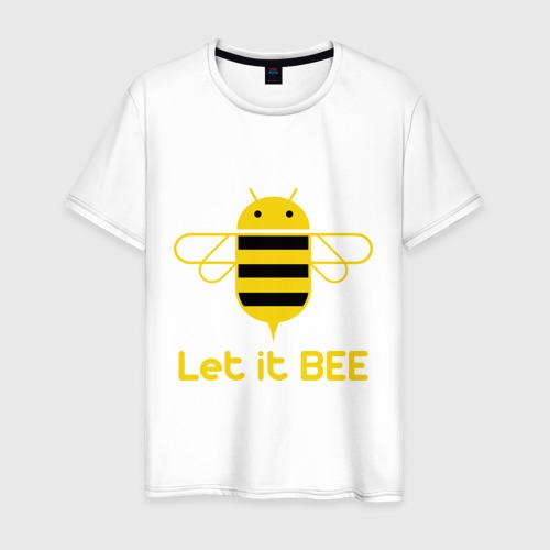 Мужская футболка хлопок Android - Let It Bee