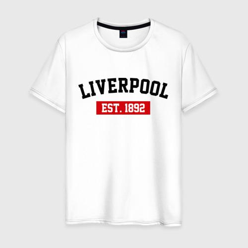 Мужская футболка хлопок FC Liverpool Est. 1892