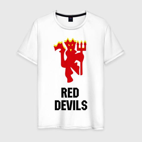 Мужская футболка хлопок red devils (manchester united)