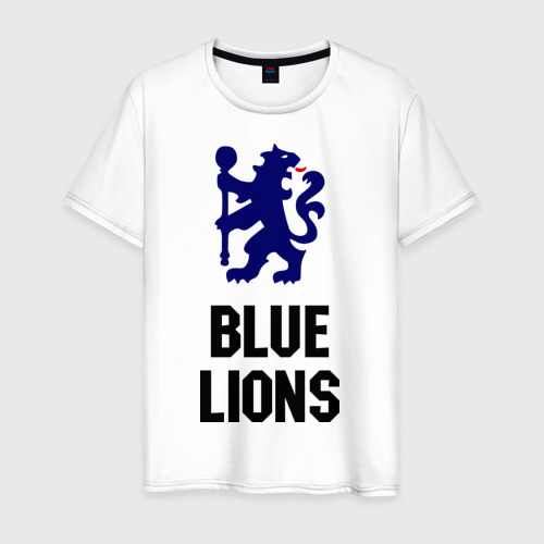Мужская футболка хлопок blue lions (chelsea)