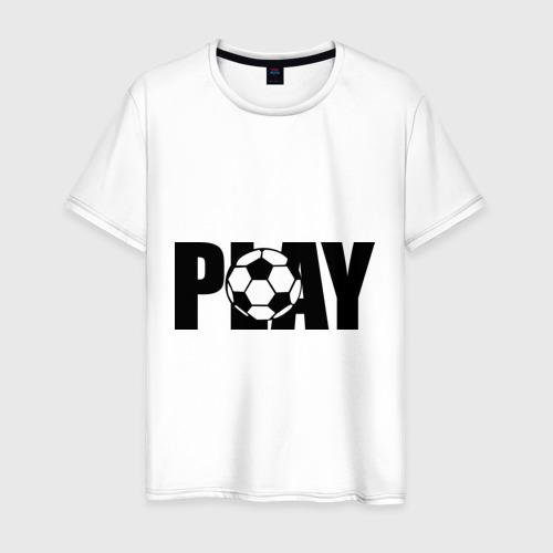 Мужская футболка хлопок Играть в футбол