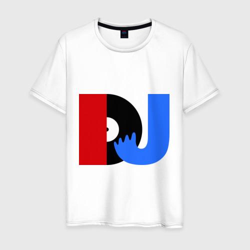 Мужская футболка хлопок DJ vinyl