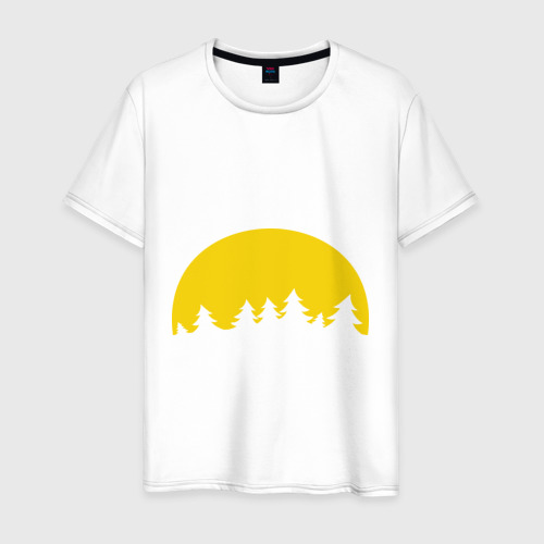 Мужская футболка хлопок Полная луна