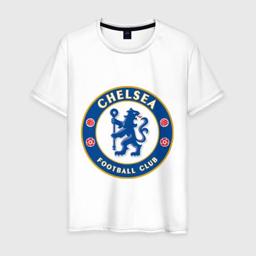 Мужская футболка хлопок Chelsea logo