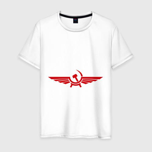 Мужская футболка хлопок Серп и молот в виде орла