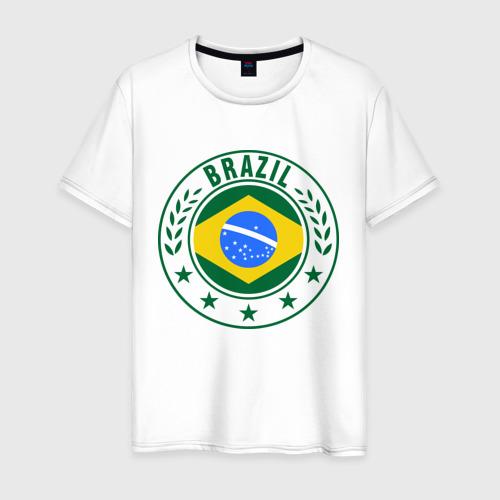 Мужская футболка хлопок Brazil - Бразилия ЧМ-2014