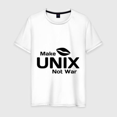 Мужская футболка хлопок Make unix, not war