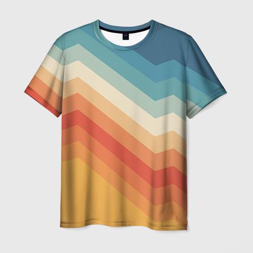 Мужская футболка 3D Полосы
