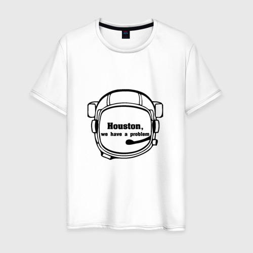 Мужская футболка хлопок Хьюстон,у нас проблема
