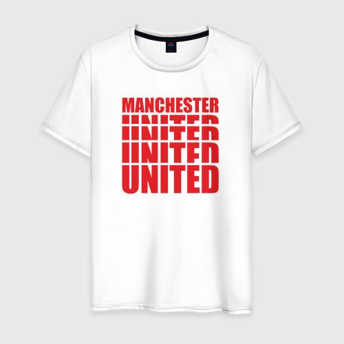 Мужская футболка хлопок Manchester United red