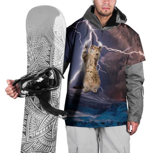 Накидка на куртку 3D Кот и молния