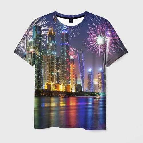 Мужская футболка 3D Салют в Дубае