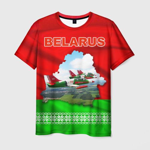 Мужская футболка 3D Belarus 16