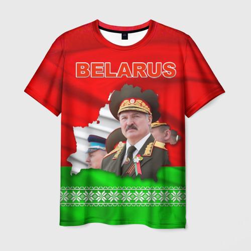 Мужская футболка 3D Belarus 18