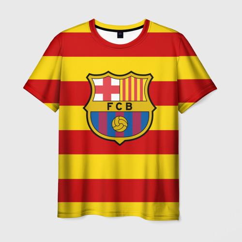 Мужская футболка 3D Барселона (каталония)
