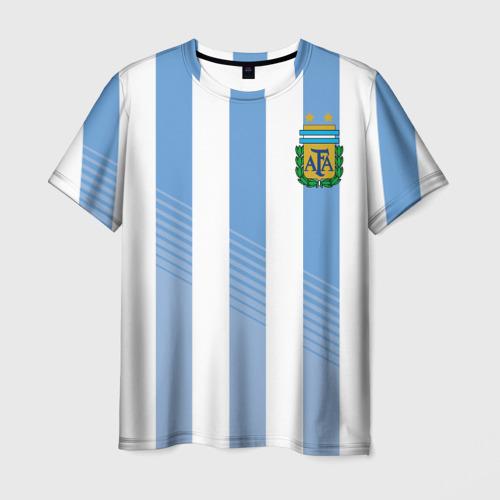 Мужская футболка 3D Сборная Аргентины по футболу