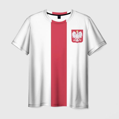 Мужская футболка 3D Сборная Польша