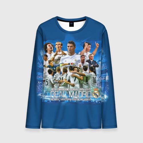 Мужской лонгслив 3D Real Madrid