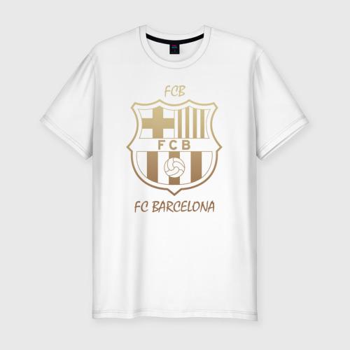 Мужская футболка хлопок Slim Barcelona1