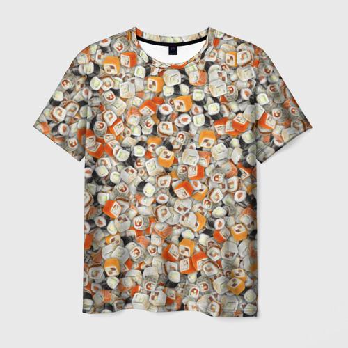 Мужская футболка 3D Суши
