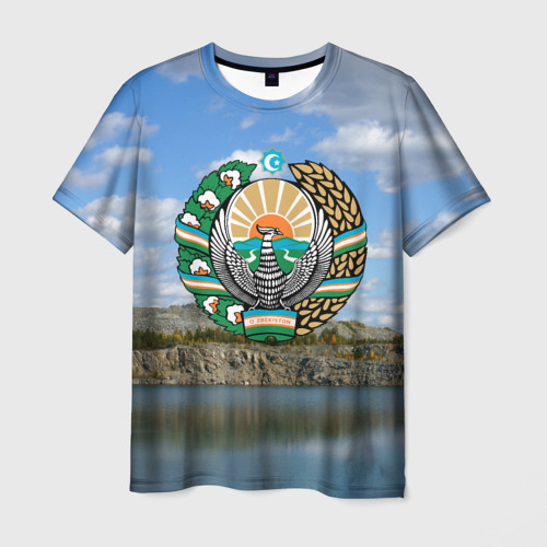 Мужская футболка 3D Узбекистан