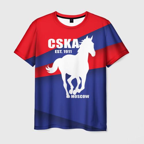 Мужская футболка 3D CSKA est. 1911