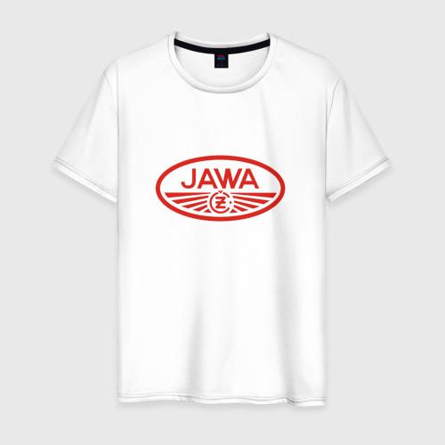 Мужская футболка хлопок Мотоцикл Jawa логотип