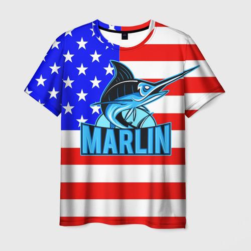 Мужская футболка 3D Marlin USA