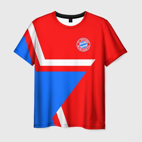 Мужская футболка 3D ФК Бавария 2018 Звезда