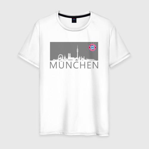 Мужская футболка хлопок Bayern Munchen - Munchen City grey (2018)