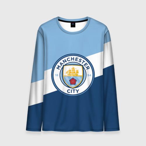 Мужской лонгслив 3D Manchester city 2018 Colors