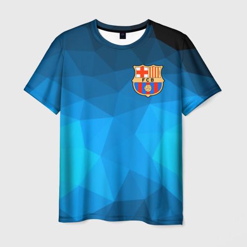 Мужская футболка 3D FC Barcelona polygon 2018