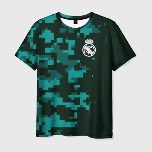 Мужская футболка 3D Real Madrid 18 Military Sport