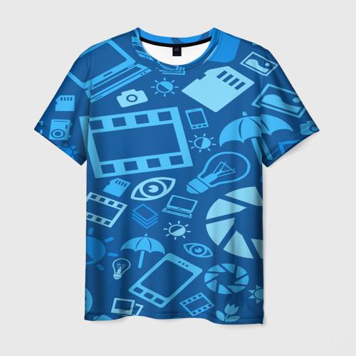 Мужская футболка 3D Фотограф pattern