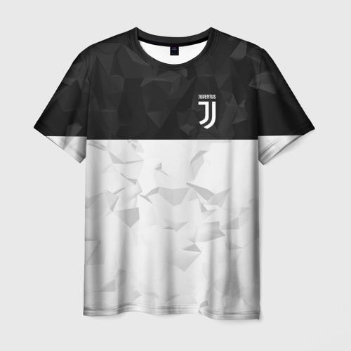 Мужская футболка 3D Juventus 2018 Black and White