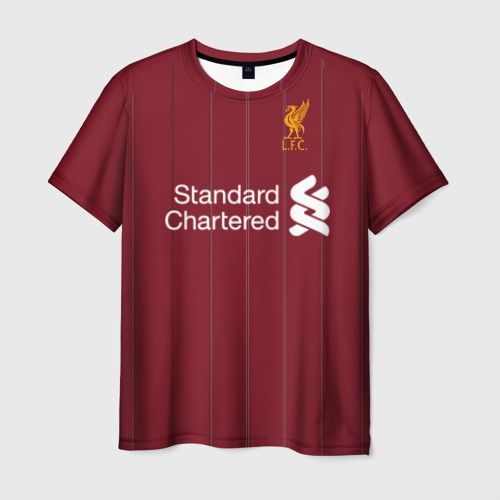 Мужская футболка 3D M.Salah home 17-18