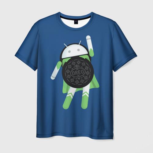 Мужская футболка 3D Android Oreo
