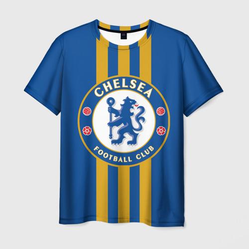 Мужская футболка 3D Chelsea  2018 Gold Line