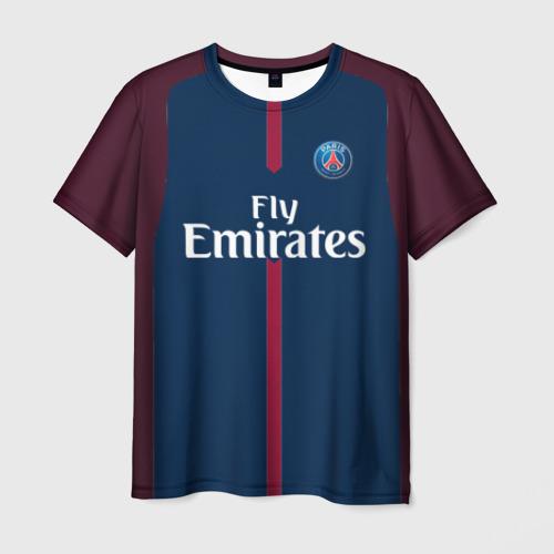 Мужская футболка 3D Neymar home PSG 17-18