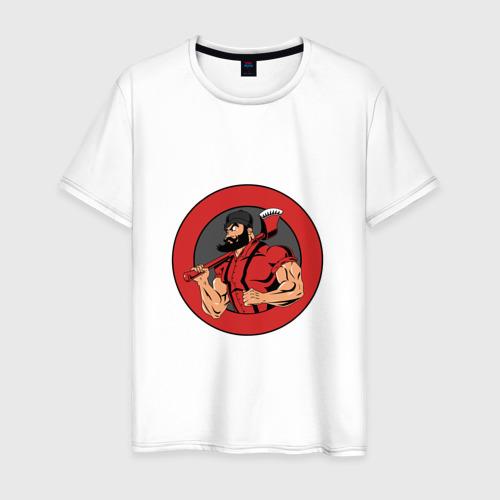 Мужская футболка хлопок Дровосек БРУТАЛ BLACKBARBERS