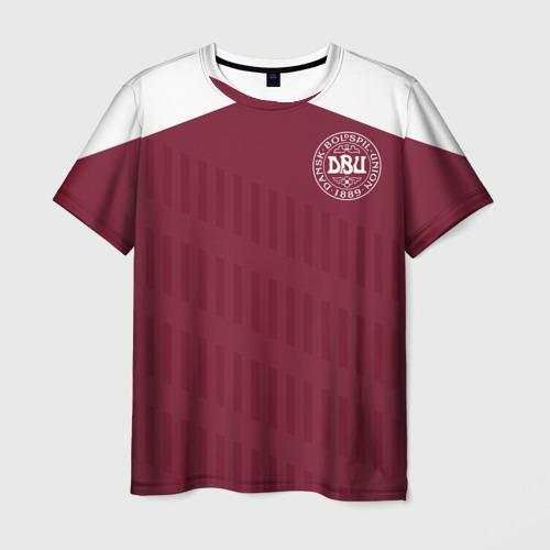 Мужская футболка 3D Дания, форма