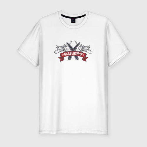 Мужская футболка хлопок Slim Барбершоп опаски