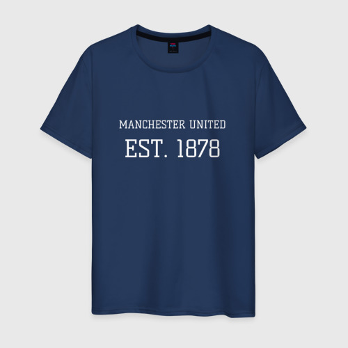 Мужская футболка хлопок Манчестер Юнайтед